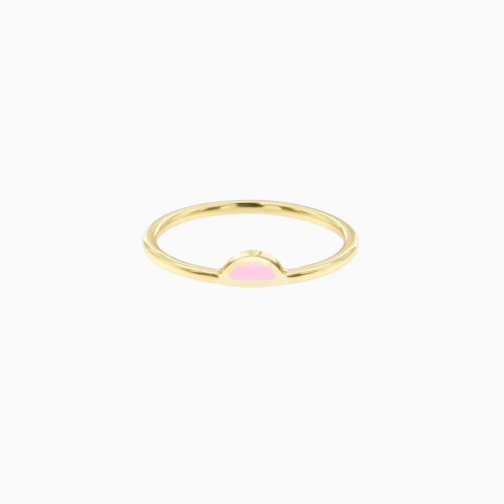 Petal Ring in Golden Brass and Milkshake by Naomi Murrell
