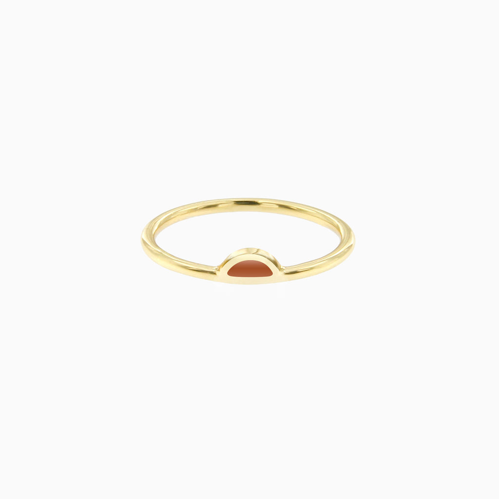 Petal Ring in Golden Brass and Cinnamon by Naomi Murrell