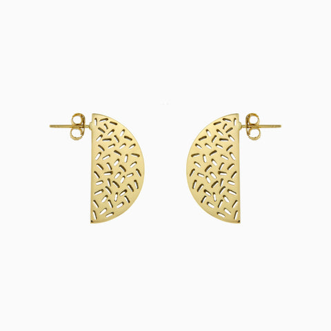SHAKE IT EARRINGS</br>Golden Brass</br>