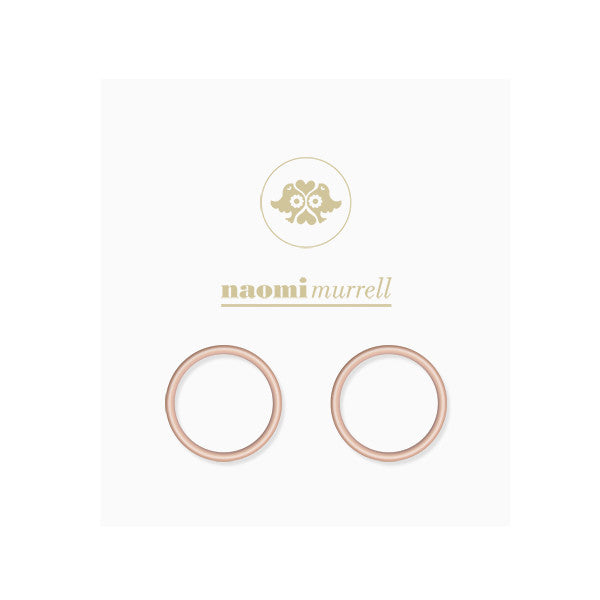 Loop Studs in Rose Gold Plate by Naomi Murrell, Package