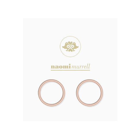 Loop Studs in Rose Gold Plate by Naomi Murrell
