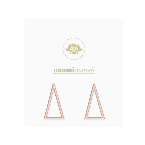 Peak Studs in Rose Gold Plate by Naomi Murrell