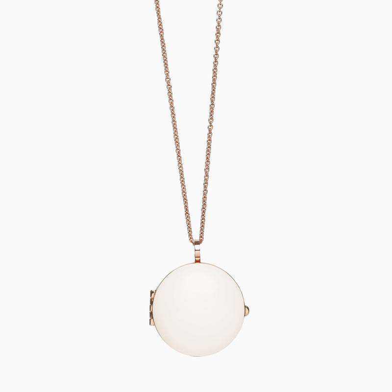 Locket in Rose Gold Plate and Bone by Naomi Murrell