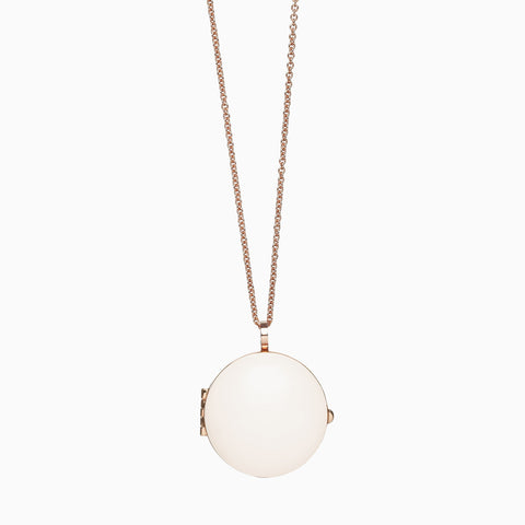 LOCKET</br>Bone</br>Rose Gold Plate