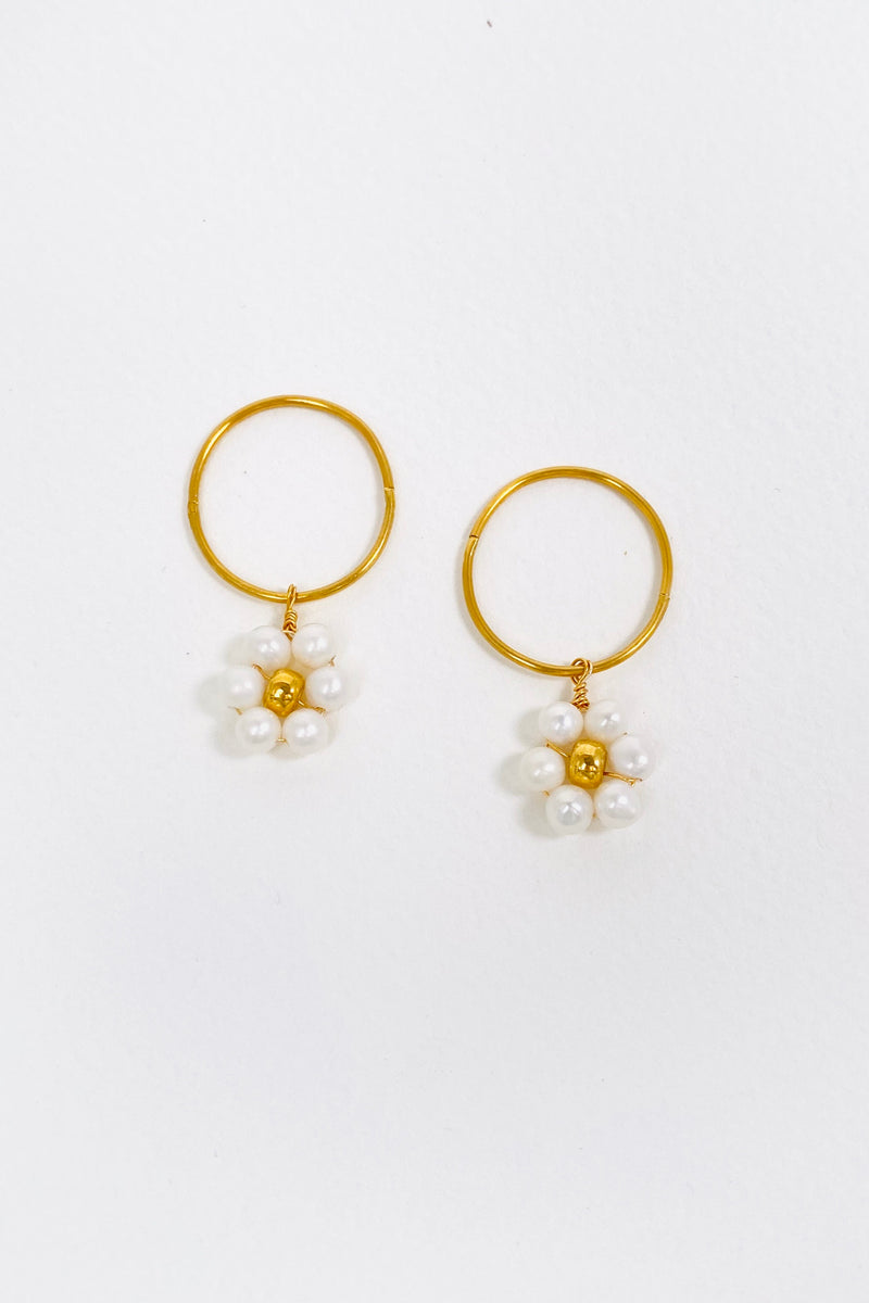 Daisy Hoops, Gold