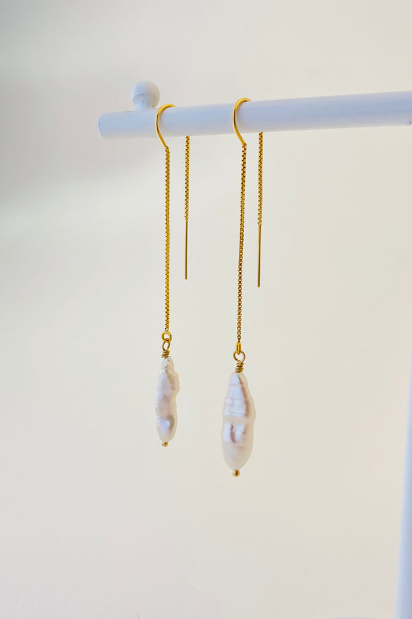 Siren Pearl Thread Earrings