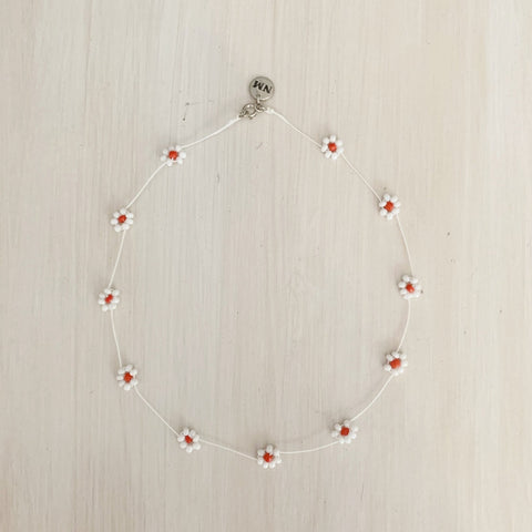 Daisy Chain Choker, Pearlescent White