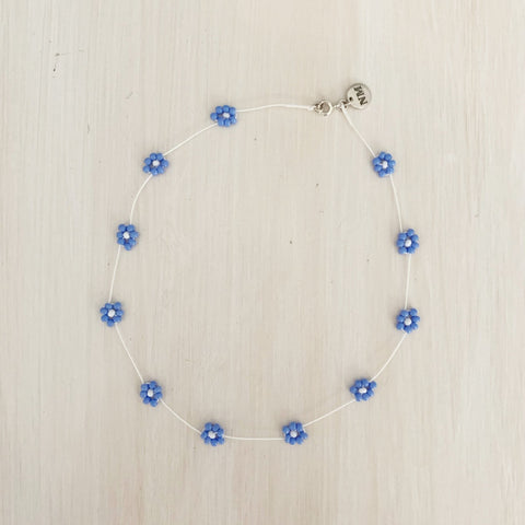 Daisy Chain Choker, Powder Blue