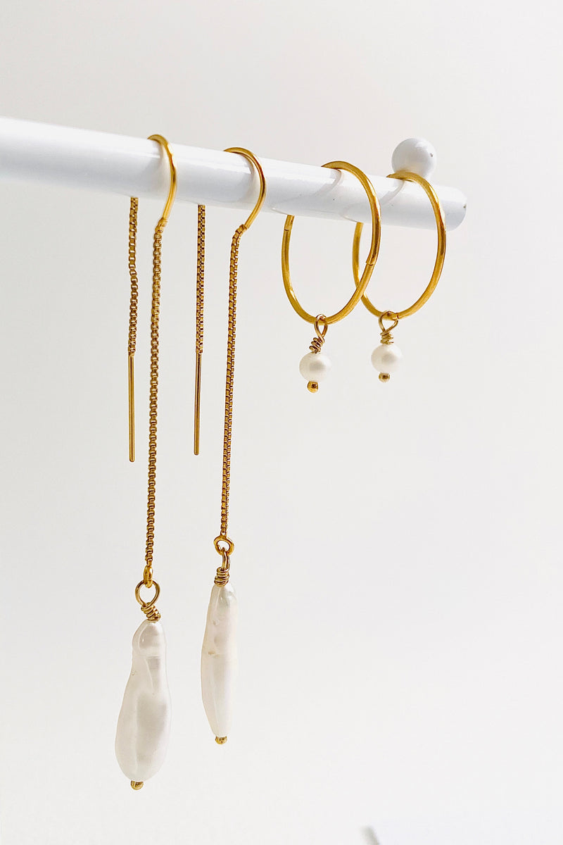 Perla Baby Hoops, Gold