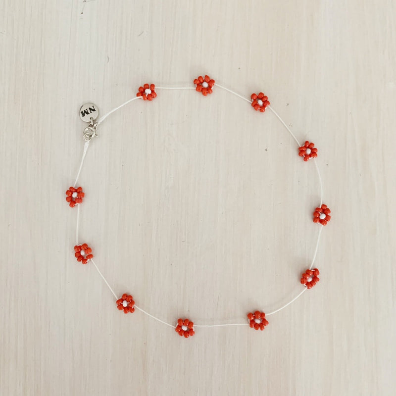 Daisy Chain Choker, Cherry Red