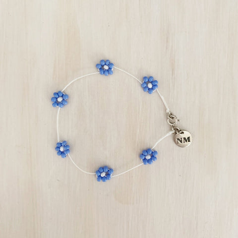 Daisy Chain Bracelet, Powder Blue