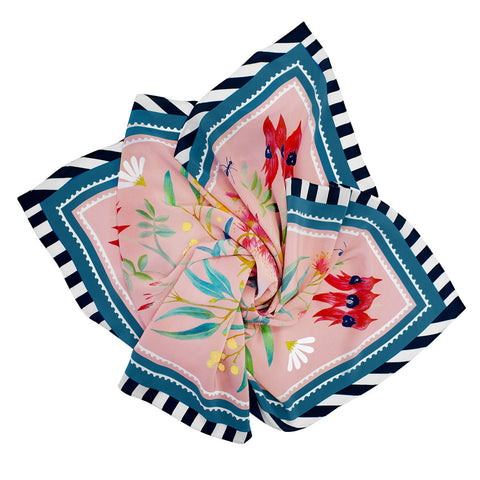 Family Circle Silk Scarf by Julie White