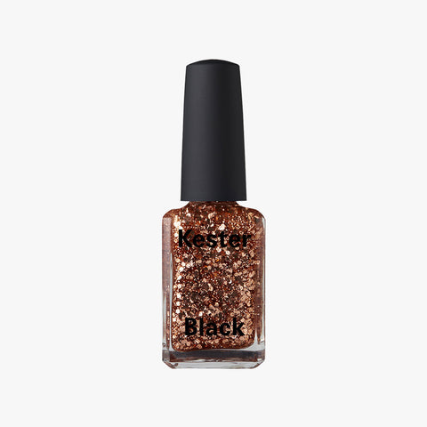Nail Polish in Dasher Glitter, Rose Golden by Kester Black