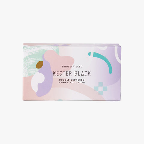 Double Espresso Soap Packaging by Kester Black