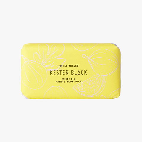 White Fig Soap Packaging by Kester Black