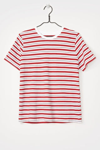 Classic Fit Tee, Red Stripe, Kowtow, Front