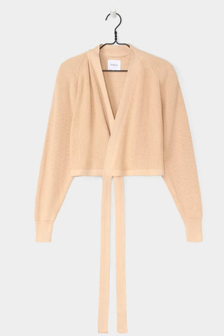 Composure Cardigan in Natural, Hanging by Kowtow