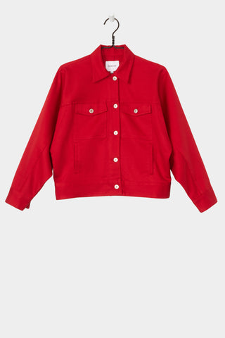 Formation Jacket, Red, Kowtow, Front