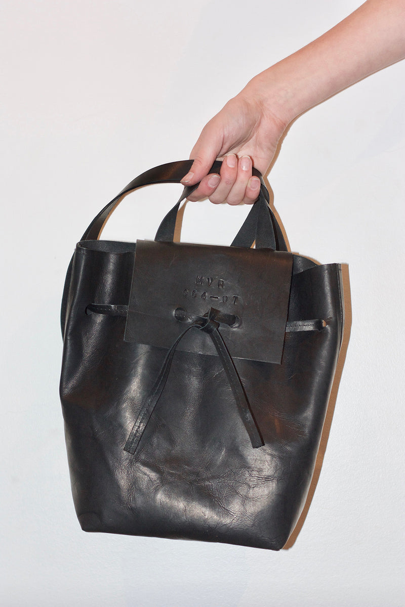 LEATHER BACKPACK<br/>BLACK