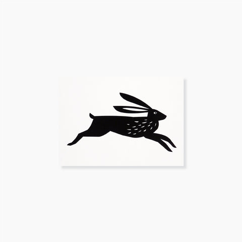 Flying Rabbit Postcard by Michoucas Design