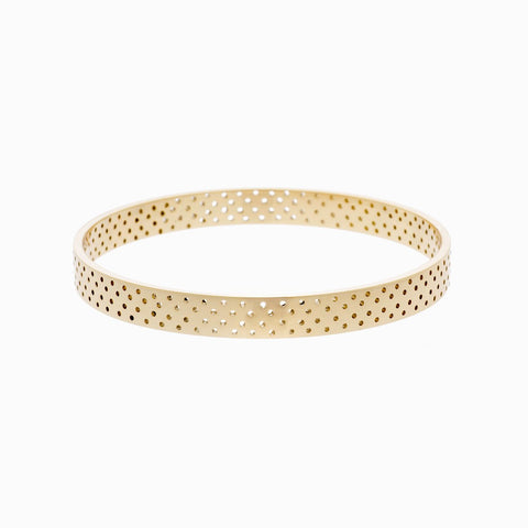 Polka Dot Bangle in Golden Brass Naomi Murrell