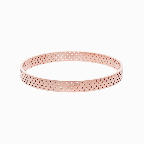 Polka Dot Bangle in Rose Gold Plate Naomi Murrell