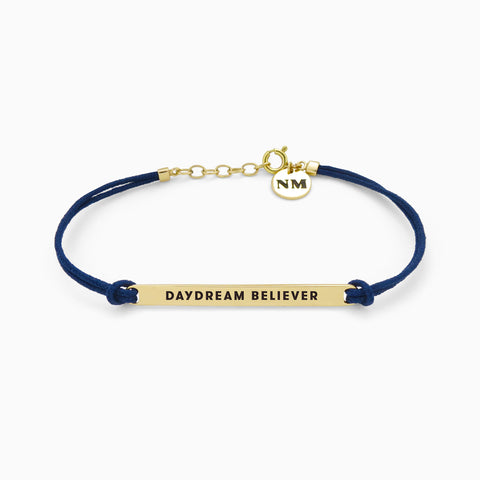 Naomi Murrell : DAYDREAM BELIEVER Bracelet with Golden Brass with Navy Cord