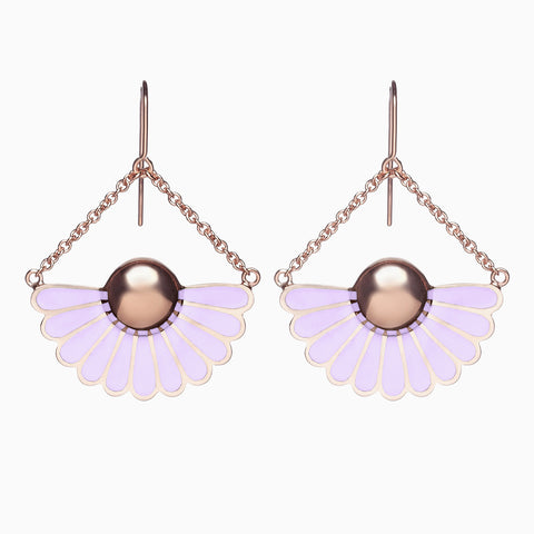 Deco Droplet Earrings in Lavender by Naomi Murrell