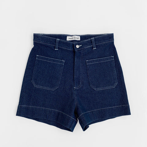 Sailor Shorts, Indigo Denim, 100% Cotton by Naomi Murrell
