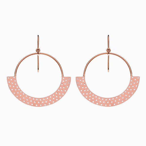 Polka Dot Earrings in Rose Gold Plate by Naomi Murrell