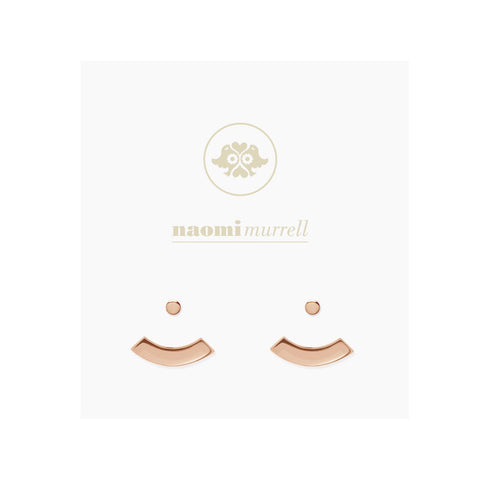 Arc Ear Jacket Studs in Rose Gold Plate by Naomi Murrell
