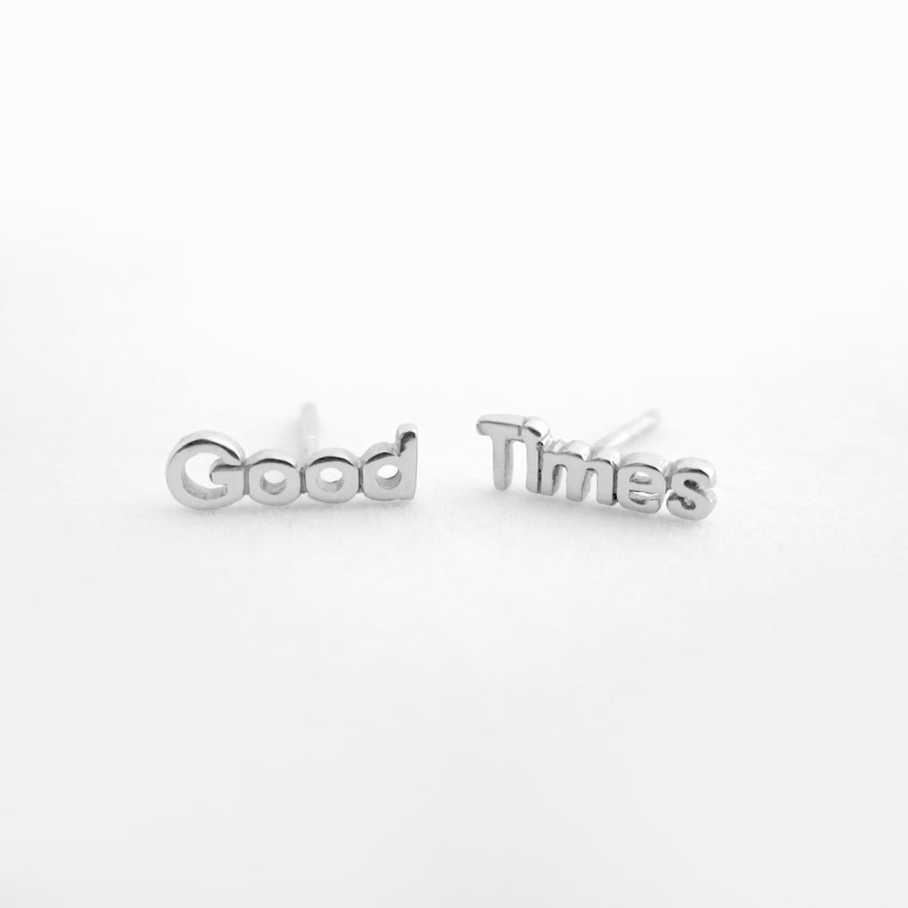 Good Times Studs Sterling Silver by Naomi Murrell