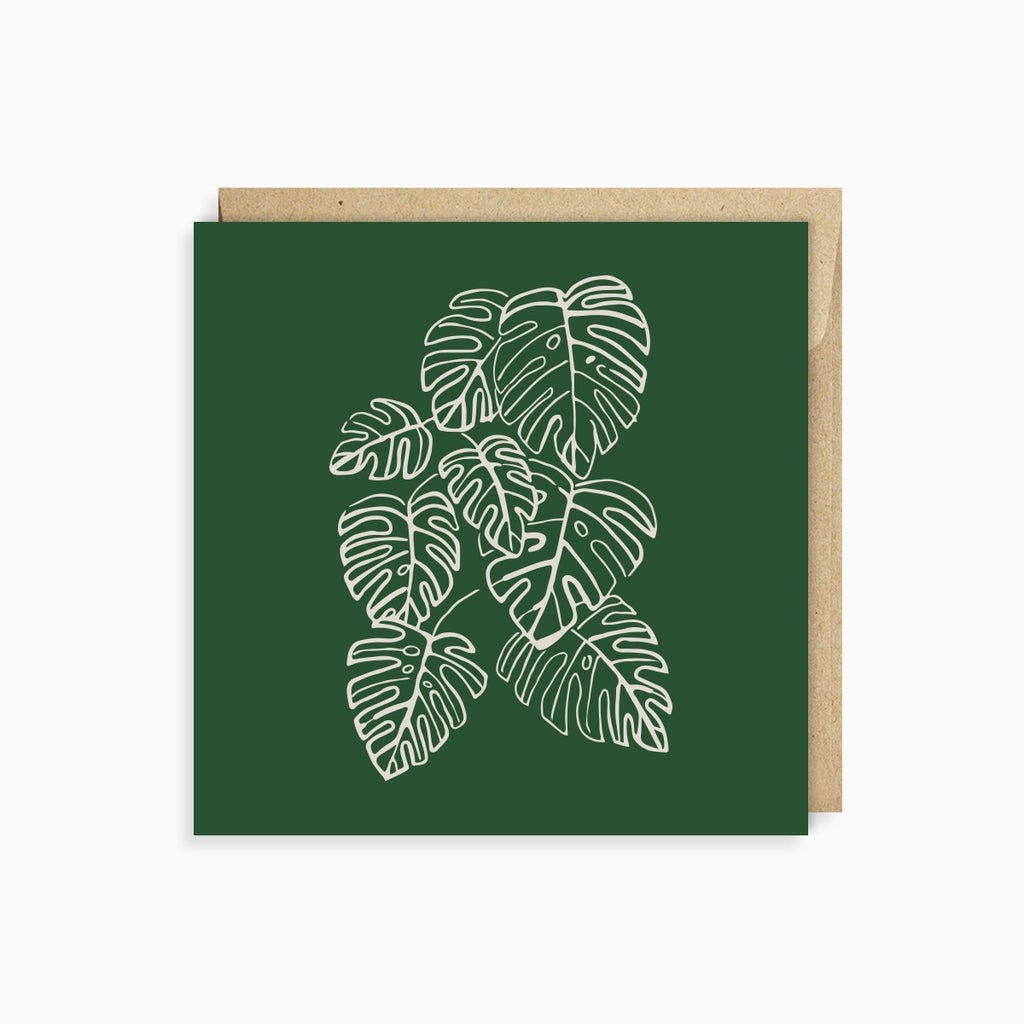 NOTE CARD<br/>HOUSE PLANT<br/>Jungle Green