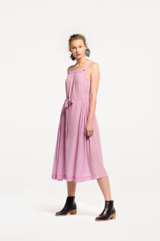Pogo Maxi Dress in Peony Silk by Naomi Murrell