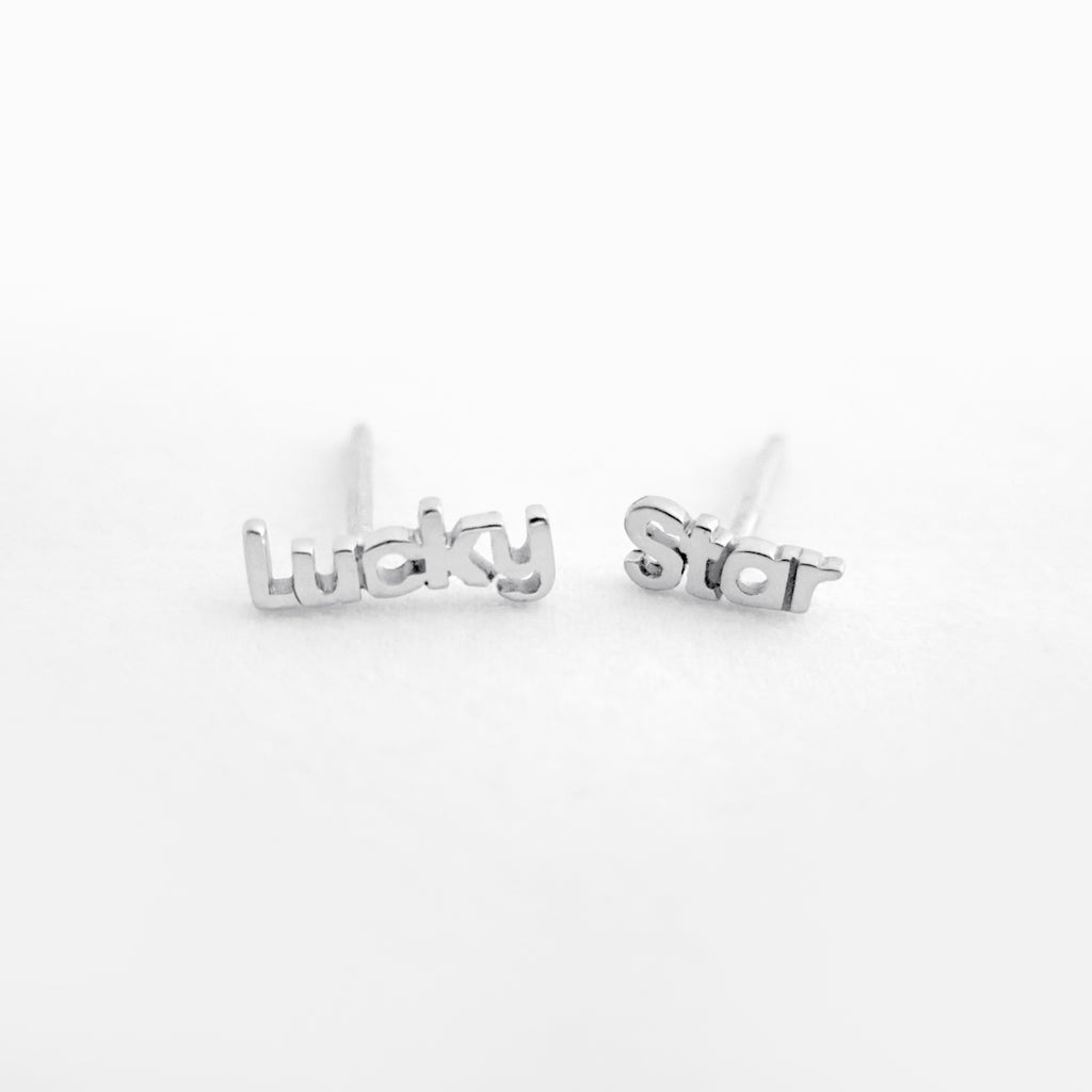 Luck Star Studs Sterling Silver by Naomi Murrell