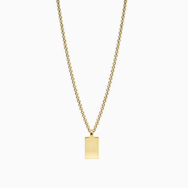 Naomi Murrell Amulet Necklace in Gold Plate