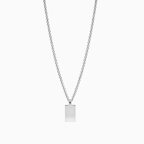 Naomi Murrell Amulet Necklace in Silver