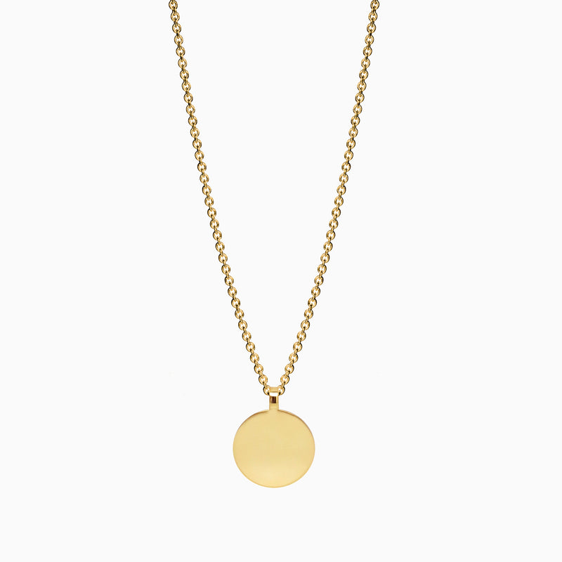 Naomi Murrell Sequin Necklace in Gold Plate