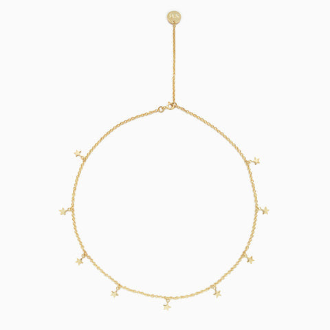 Naomi Murrell Starlight Choker Necklace in Gold Plate