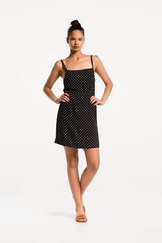 Itty Bitty Mini Dress in Dainty Dot Print Rayon, Hero 1 by Naomi Murrell