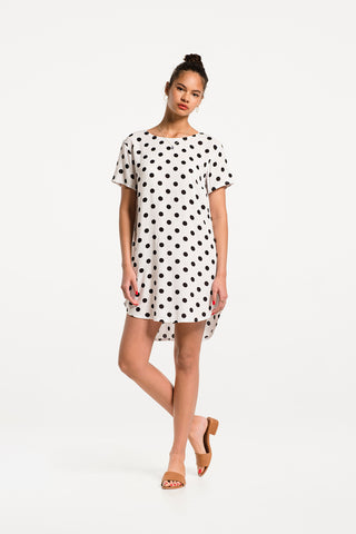 Low Key Dress in Ipanema Polka Dot Rayon, Hero 1 by Naomi Murrell