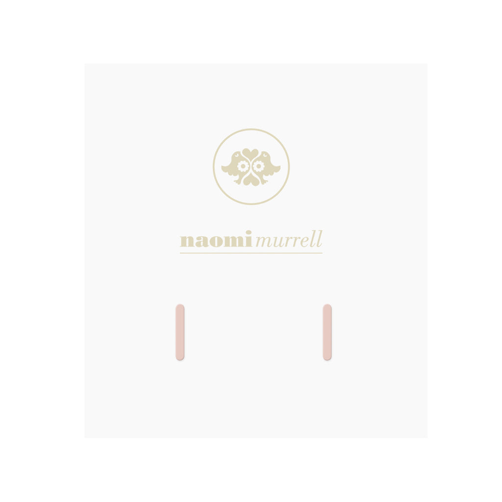 Petite Baguette Studs in Rose by Naomi Murrell