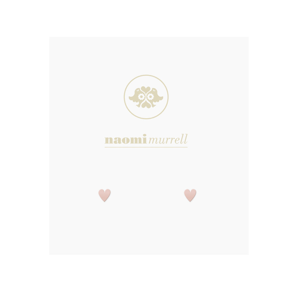 Petite Sweetheart Studs in Rose by Naomi Murrell