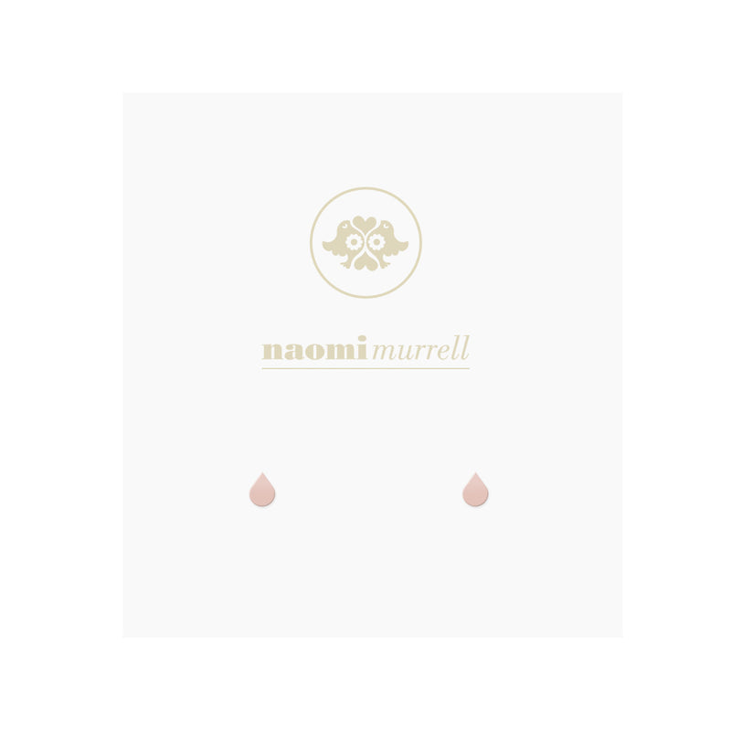 Tiny Droplet Studs in Rose by Naomi Murrell