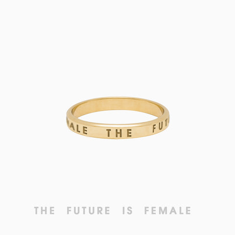 The Future Is Female Ring, Golden Brass