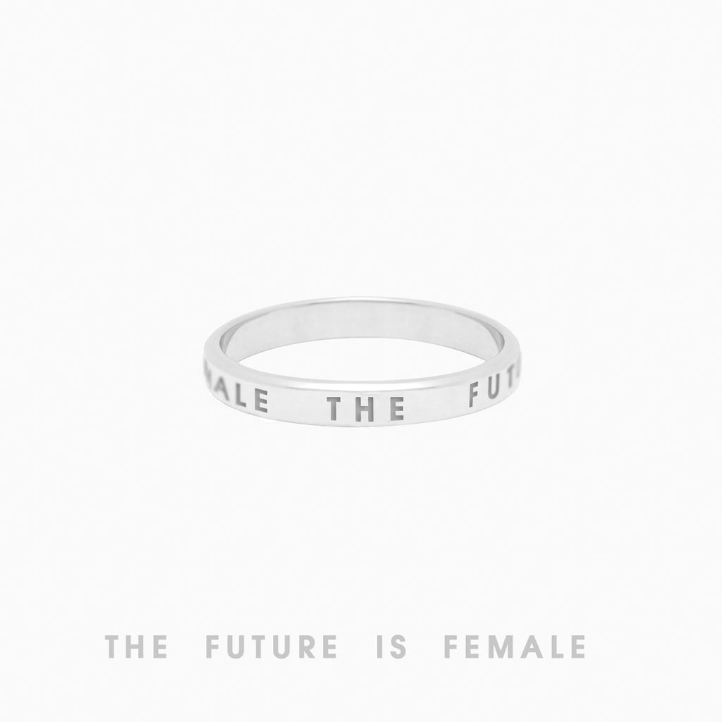 The Future Is Female Ring, Sterling Silver