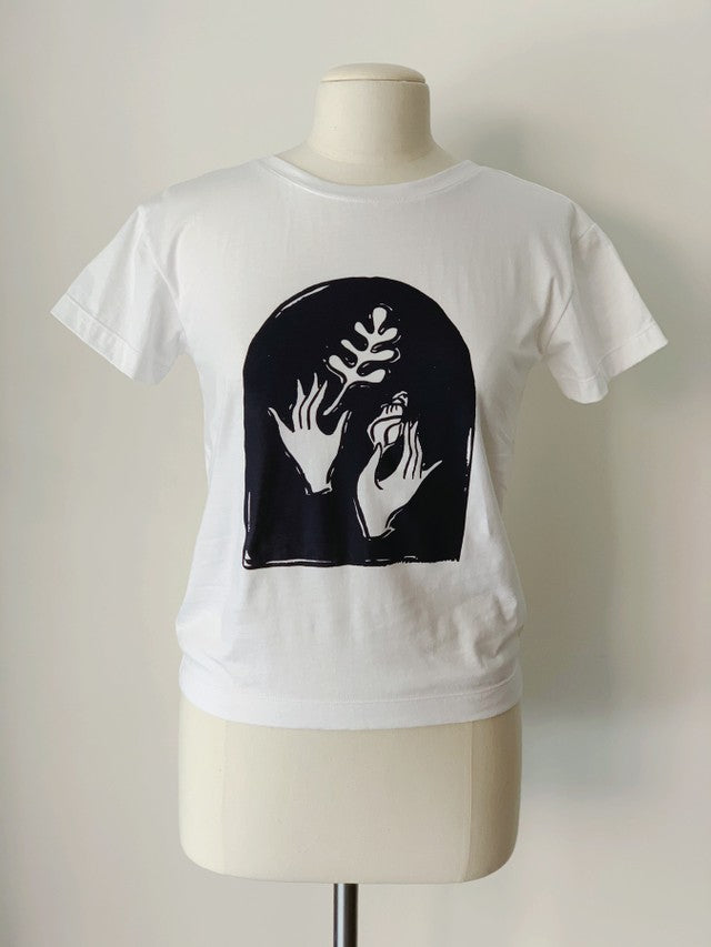 Vitamin Sea T-Shirt, White Organic Cotton, Front View, by Naomi Murrell