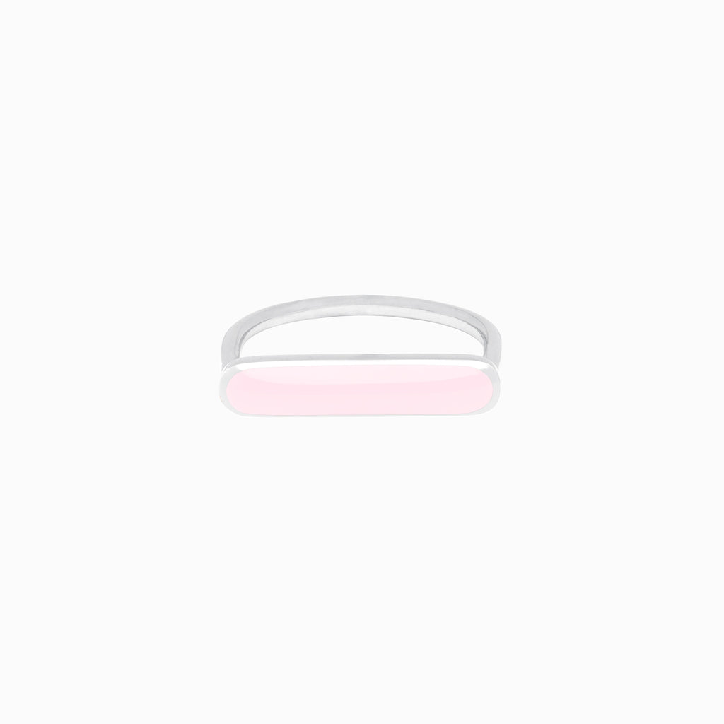 Stacker Ring, Powder Pink, Sterling Silver