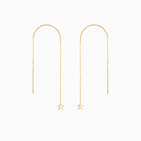 Naomi Murrell Starlight Thread Earrings in 18k Gold Plate