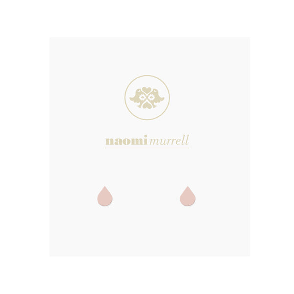 Droplet Studs in Rose Gold Plate by Naomi Murrell